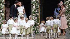 น่ารักฝุดๆ เจ้าชายจอร์จ เจ้าหญิงชาร์ลอตต์ ทำหน้าที่เป็นเด็กถือดอกไม้งานแต่งน้าสาว