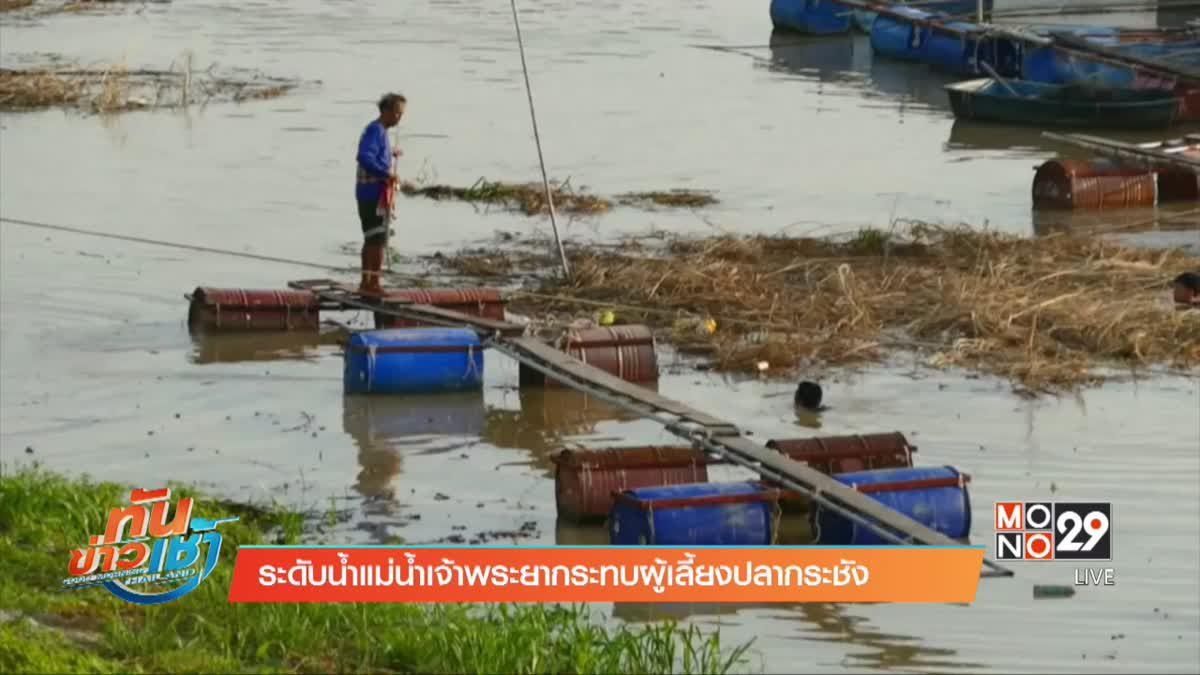 ระดับน้ำแม่น้ำเจ้าพระยากระทบผู้เลี้ยงปลากระชัง