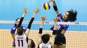 พลิกนรก! สาวไทย สู้ขาดใจพลิกคว่ำ โสมขาว 3-2 ศึกลูกยางคัดโอลิมปิก