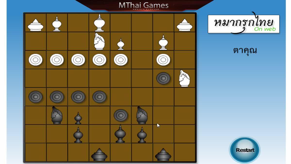 เกมส์หมากรุกไทย เกมส์กระดาน เล่นบนเว็บ ฝึกสมอง ประลองปัญญา