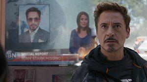 ภาพ (โรเบิร์ต ดาวนีย์ จูเนียร์) ในงานแถลงข่าว Spider-Man โผล่ในหนัง Infinity War ด้วย