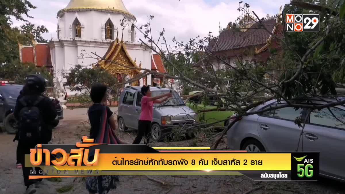 ต้นไทรยักษ์หักทับรถพัง 8 คัน เจ็บสาหัส 2 ราย