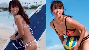 จำกันได้มั้ย!! Kyoko Fukada แฟชั่นบิกินี่ริมทะเลสุดเร้าร้อน