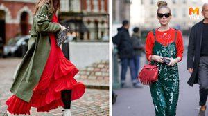 แกล้งๆ แต่งตัวธีมคริสต์มาส แมทช์สีแดง-เขียว ยังไงให้ดูเป็นแฟชั่นนิสต้า