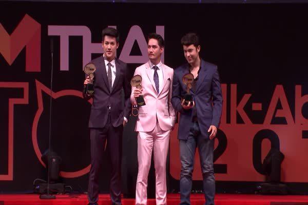ดีเจพุฒ - อนันดา - แอนดริว ได้รับรางวัล MThai Top talk-about Actor 2016