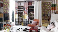 แชร์ทริคเด็ดไอเดีย ติดผ้าม่าน เพื่อแบ่งสัดส่วนห้องขนาดเล็กให้สวยปัง