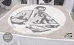 ร้อยเรียงเมล็ดพันธุ์ข้าว เป็นรูป ในหลวงรัชกาลที่ 9