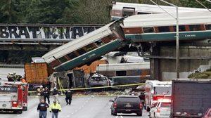 รถไฟแอมแทรกตกรางในวอชิงตัน มีผู้บาดเจ็บและเสียชีวิต