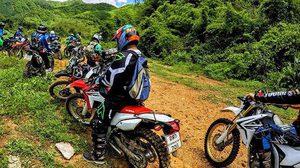ช่วยได้แล้ว กลุ่มจยย.วิบาก ติดป่าเขตอุทยานฯ ไทรโยค ออกมาไม่ได้