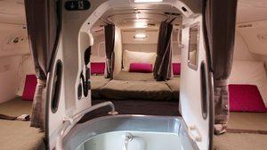 ที่นอนของแอร์โฮสเตส ลูกเรือ บนเครื่องบิน