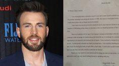 สุภาพทั้งในจอและงานเขียน! คริส อีแวน บรรจงเขียนจดหมายฝึกงานอย่างสุภาพสมัยไฮสกูล