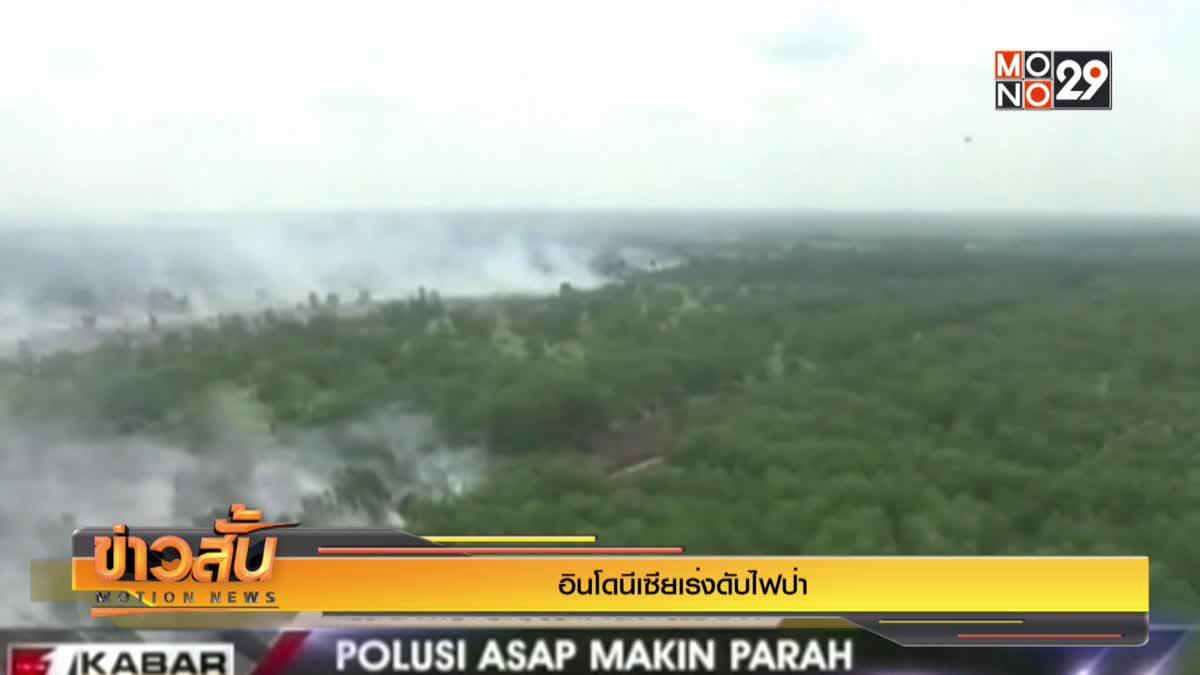 อินโดนีเซียเร่งดับไฟป่า