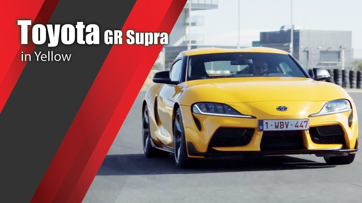 Toyota GR Supra in Yellow Driving & Design Video