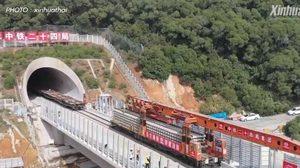 จีนเริ่มวางทางรถไฟบน 'สะพานทางหลวง-ทางรถไฟข้ามทะเล' ที่ยาวที่สุดในโลก