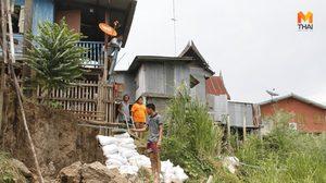 ชาวบ้านอยุธยาสุดทน ตลิ่งทรุดบ้านจะพัง วอนหน่วยงานเร่งสร้างเขื่อน