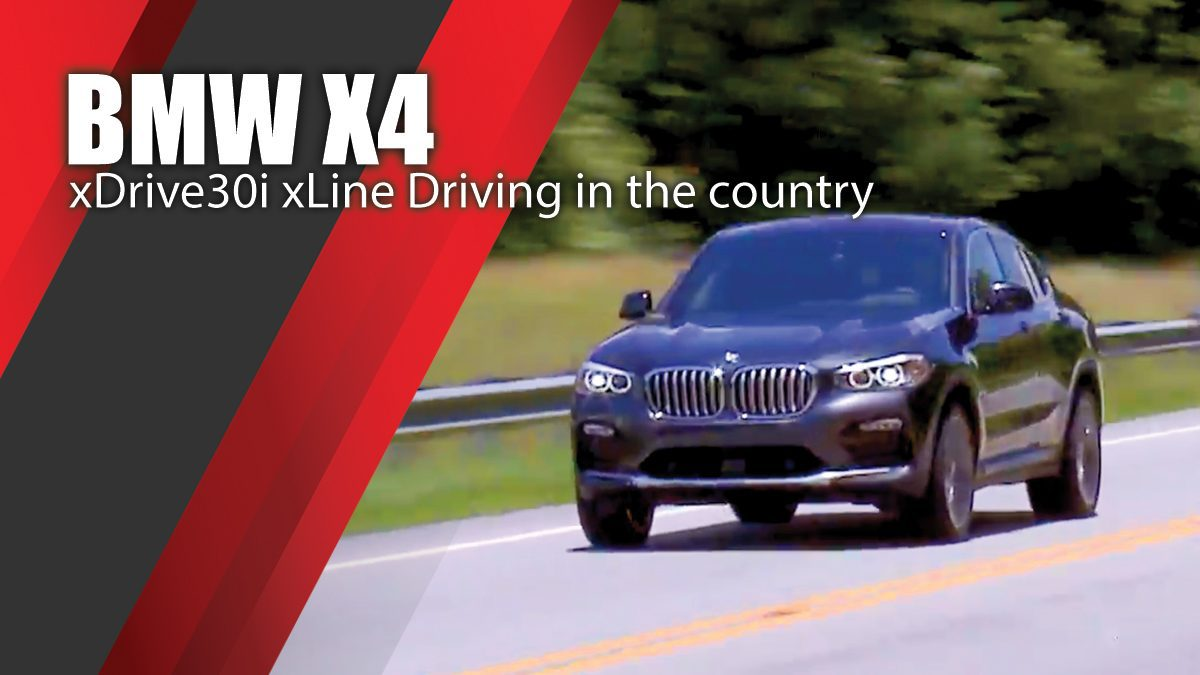 BMW X4 xDrive30i xLine Driving in the country