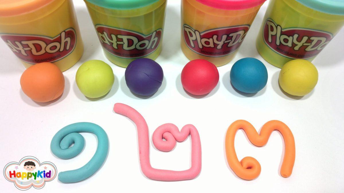 เรียนรู้เลขไทย| ปั้นแป้งโดว์ ๑-๑๐ | หัดอ่านเลขไทย | Learn Thai Numbers With Play Doh