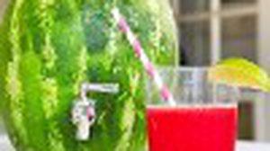 D.I.Y แปลงร่างแตงโมให้กลายเป็นถังน้ำน่ารัก