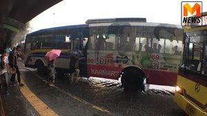 ฝนถล่มกรุง!! น้ำท่วมขังหลายจุด รถติดหนึบ