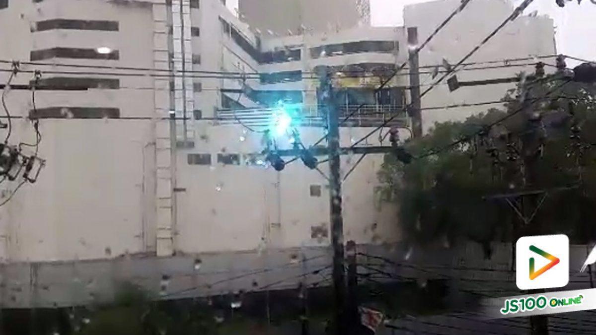 ฝนตกทีไรเป็นแบบนี้ทุกที.. ไฟฟ้าลัดวงจร ภายในซอยสุขุมวิท 12 เข้าซอยมาประมาณ 50 ม. (06-06-61)