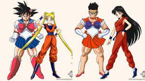 จับ Dragon Ball และ Sailor Moon มาสลับคอสตูมกัน มันก็จะเก๋แบบแปลกๆ