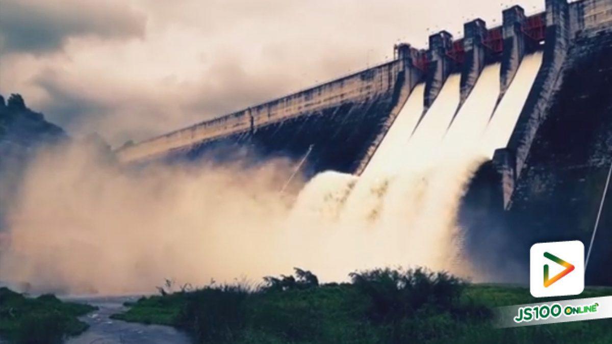 นี่ไม่ใช่น้ำตก!!  แต่เป็นการระบายน้ำล้นสปิลเวย์ ที่เขื่อนขุนด่านปราการชล (18-08-61)