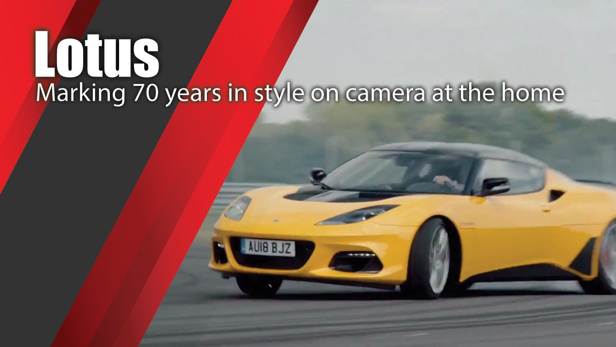 Marking 70 years in style on camera at the home of Lotus