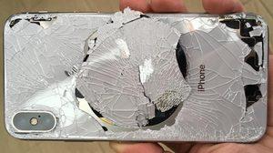 ร้าวละเอียด!! สภาพ iPhone X ตกพื้น โดยที่ไม่ได้ใส่เคส