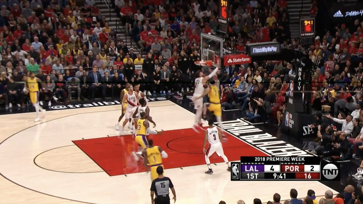 [Highlight] Los Angeles Lakers VS Portland Trail Blazers