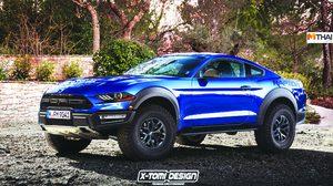 โหดไปอีก เปิดภาพ Render การรวมร่าง Ford Mustang Raptor
