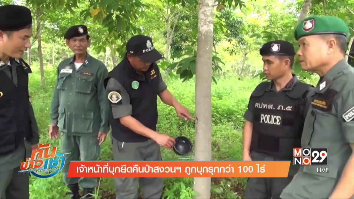 เจ้าหน้าที่บุกยึดคืนป่าสงวนฯ ถูกบุกรุกกว่า 100 ไร่
