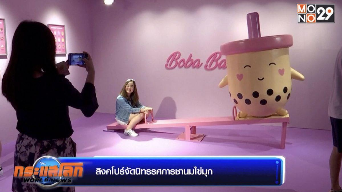 สิงคโปร์จัดนิทรรศการชานมไข่มุก