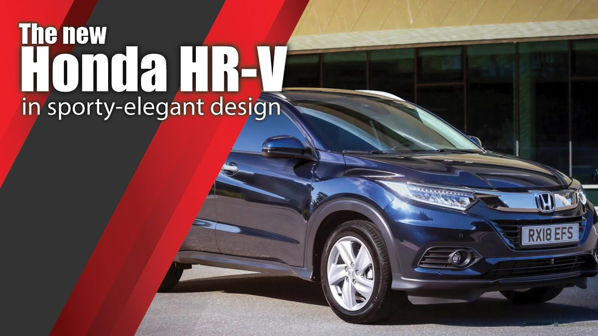 The new Honda HR-V in sporty-elegant design