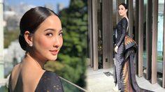 สวยสง่ามาก!! แต้ว ณฐพร หยิบชุดผ้าไหมไทย ใส่ขึ้นรับรางวัลที่ญี่ปุ่น
