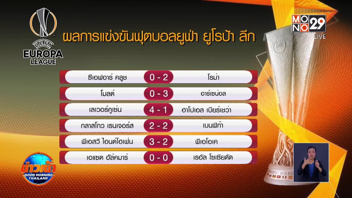 ผลการแข่งขันฟุตบอลยูฟ่า ยูโรป้า ลีก 27-11-63