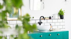 10 ไอเดียแต่งห้องน้ำ โทนสีเขียวให้สดชื่นเพิ่มความผ่อนคลาย
