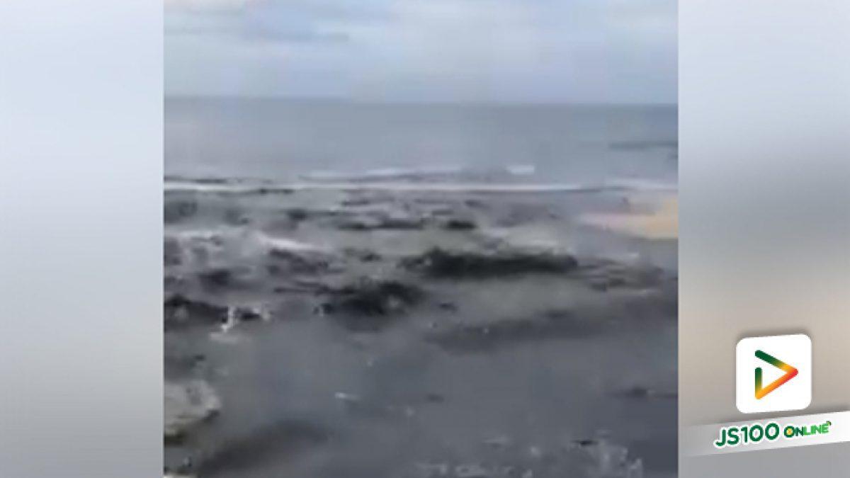 คลิปนักท่องเที่ยวตะลึงน้ำเสียดำปี๋ไหลลงหาดกะรน จ.ภูเก็ต (02-05-61)