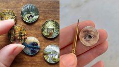 ศิลปิน วาดภาพบนเหรียญ เทพมากๆ เปลี่ยนเหรียญเล็กให้เป็นงานศิลป์สุดอาร์ต