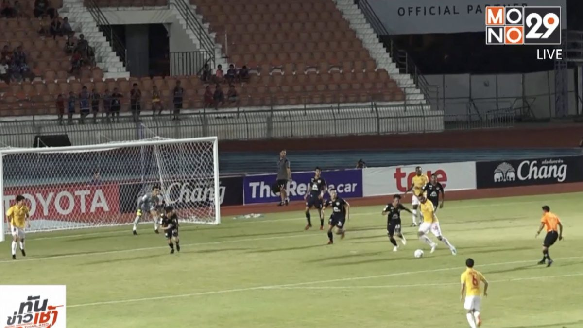 สุพรรณบุรีเปิดรังเจ๊ากิเลนผยอง 10 คน 1-1 บอลไทยลีก