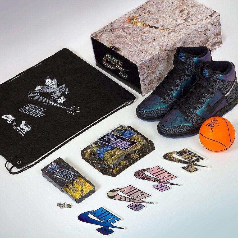 Nike SB Dunk High Black Hornet