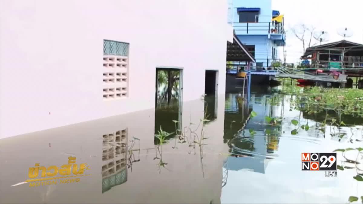 น้ำท่วม อ.เมืองนครสวรรค์ยังไม่คลี่คลาย