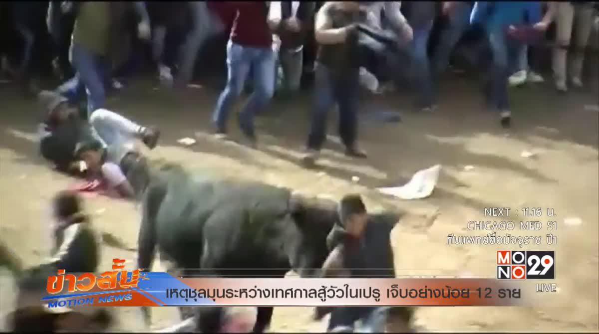 เหตุชุลมุนระหว่างเทศกาลสู้วัวในเปรู เจ็บอย่างน้อย 12 ราย