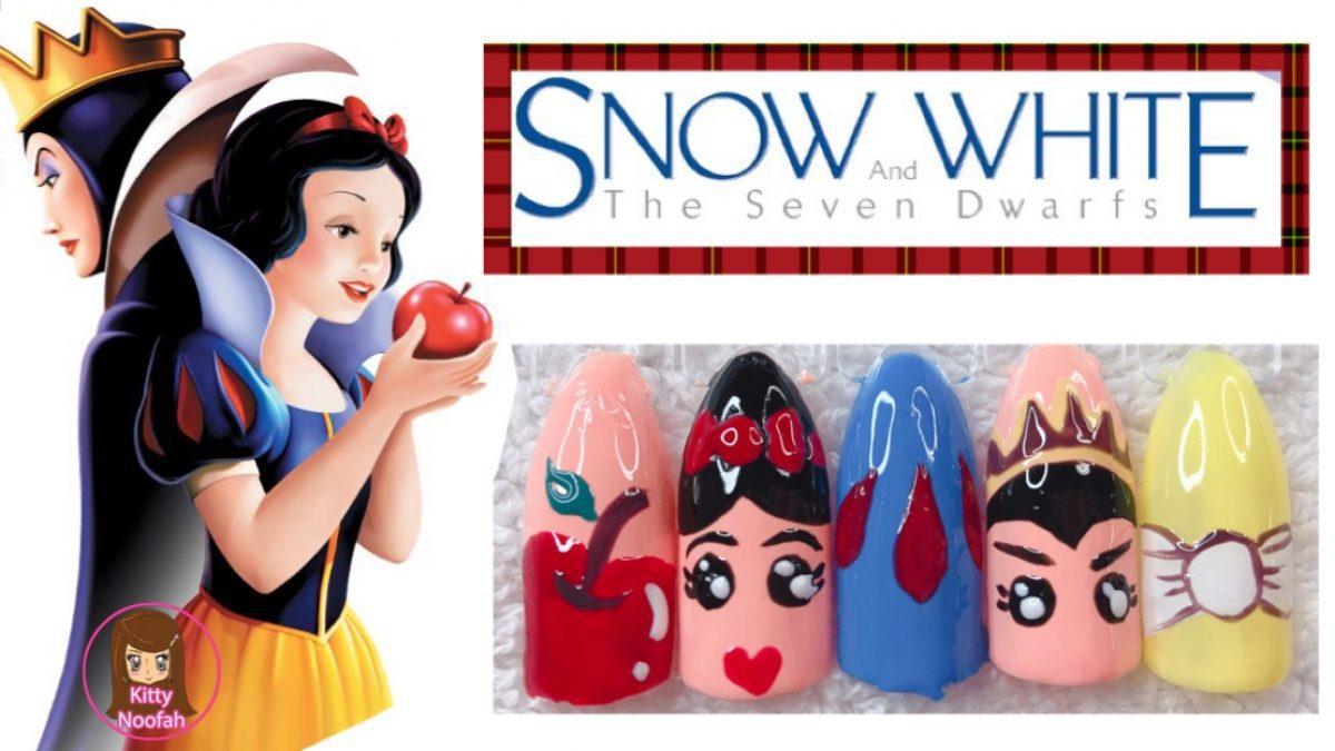 ไอเดีย ทำเล็บลายเจ้าหญิงแสนสวย ลายสโนไวท์ Snow White  ง่ายๆด้วยตัวเอง