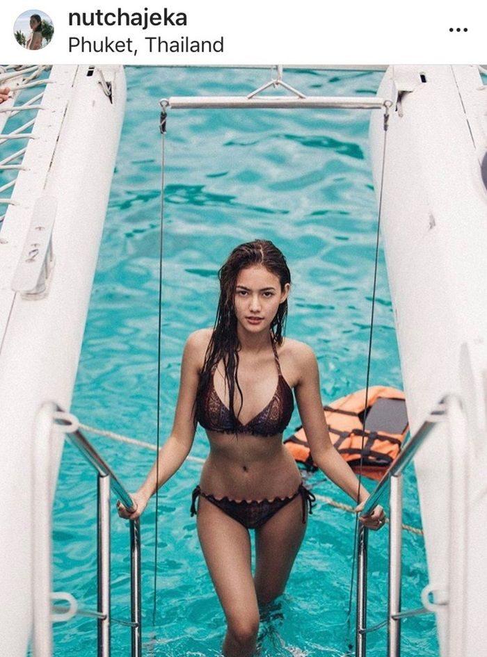 นนนี่ ณัฐชา ในชุดว่ายน้ำ