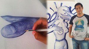 ตื่นตาตื่นใจ!! ผลงานการภาพวาดด้วย ปากกาลูกลื่น โดยศิลปินชาวเม็กซิกัน