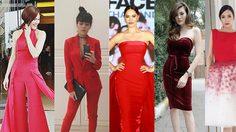 แดงไหน ไฟแรงเฟร่อ 5 ดาราสาว ประชันชุดแดง 5 สไตล์ ชอบชุดไหนกันบ้างคะ ?