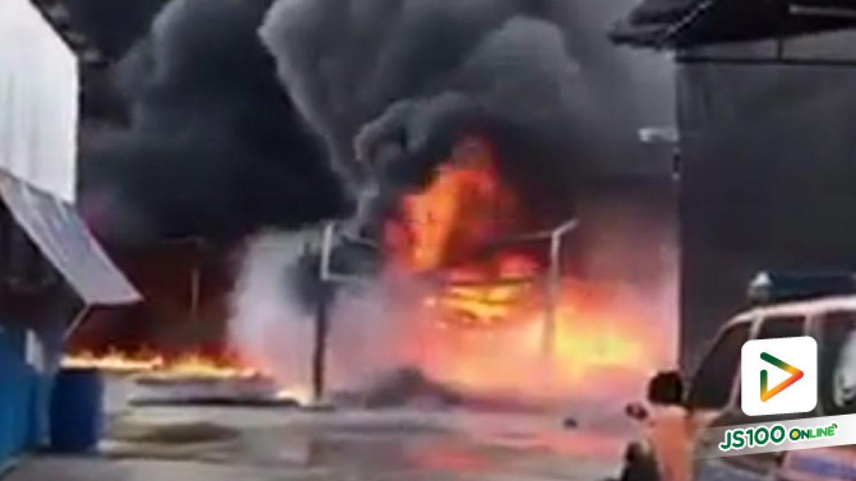 เพลิงไหม้ร้านค้า ริมถนนกาญจนาภิเษก ช่วงบางใหญ่
