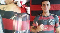 แฟนพันธุ์แท้!! หนุ่มบราซิลสักเสื้อสโมสร ฟลาเมงโก้ ไว้ที่ส่วนบนของร่างกาย