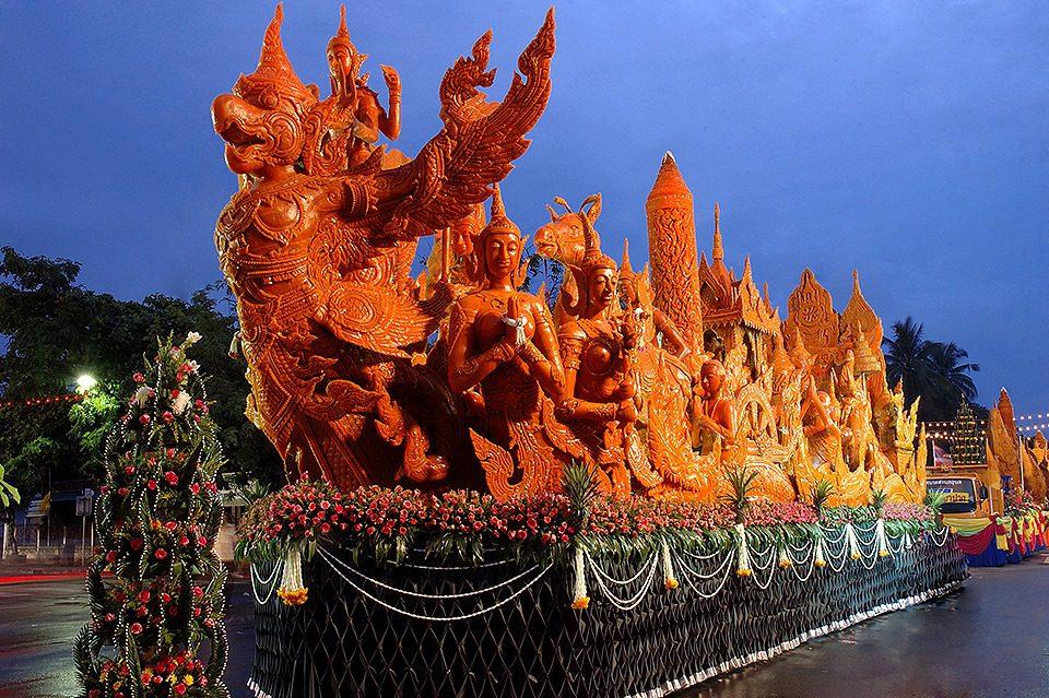 สถานที่จัดงาน ประเพณีแห่เทียนพรรษา 2562 ทั่วไทย