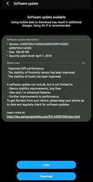 Samsung Galaxy A30 ได้อัพเดตใหม่ GPS แม่นขึ้น และอื่นๆ